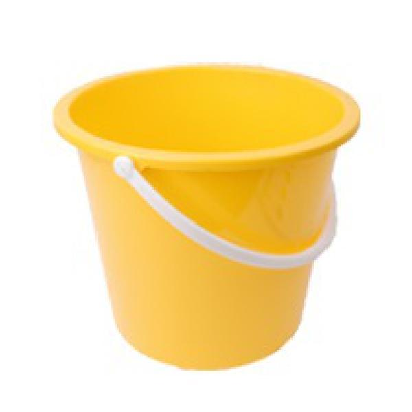 Plastic-Bucket-Yellow-10Ltr