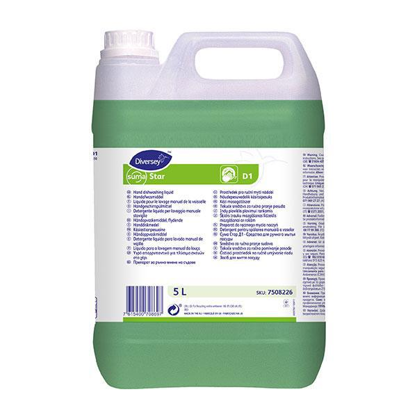 Suma Star D1 Concentrated Detergent 5L CASE