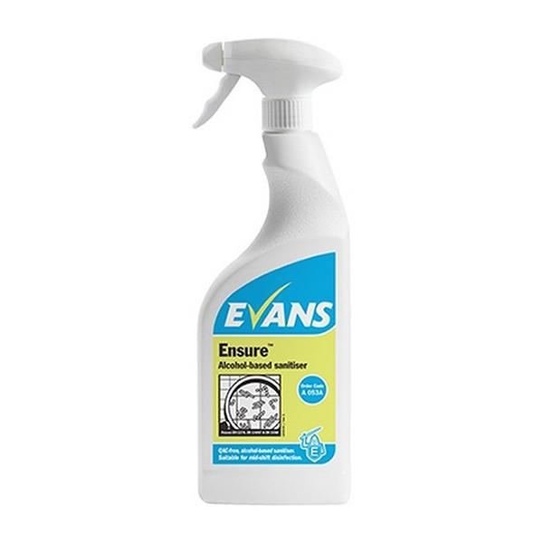 Evans Ensure Alcohol Sanitiser 750mL CASE