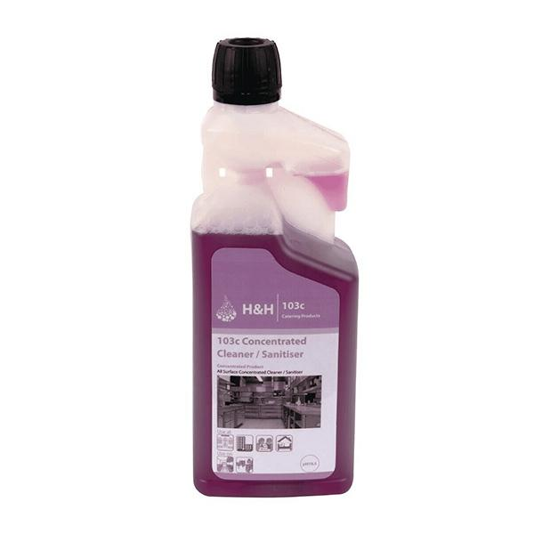 H&H 103C Cleaner/Sanitiser 1L CASE