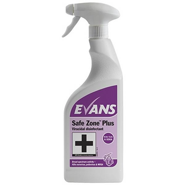Evans Safe Zone Plus Disinfectant 750mL CASE