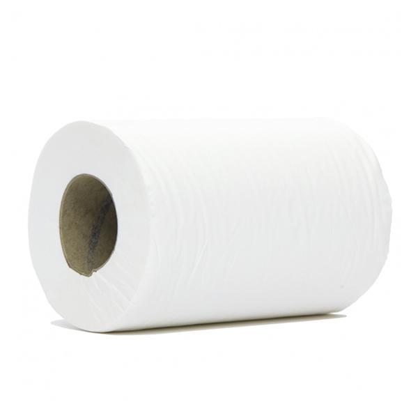 Mini Centrefeed White 1 Ply Towel Rolls 120m