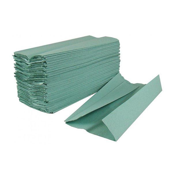 Green C Fold Hand Towels 1 Ply 31 x 23cm