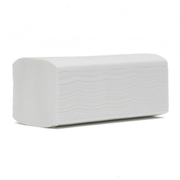 Multi Z Fold White Hand Towels 2Ply 23x24cm