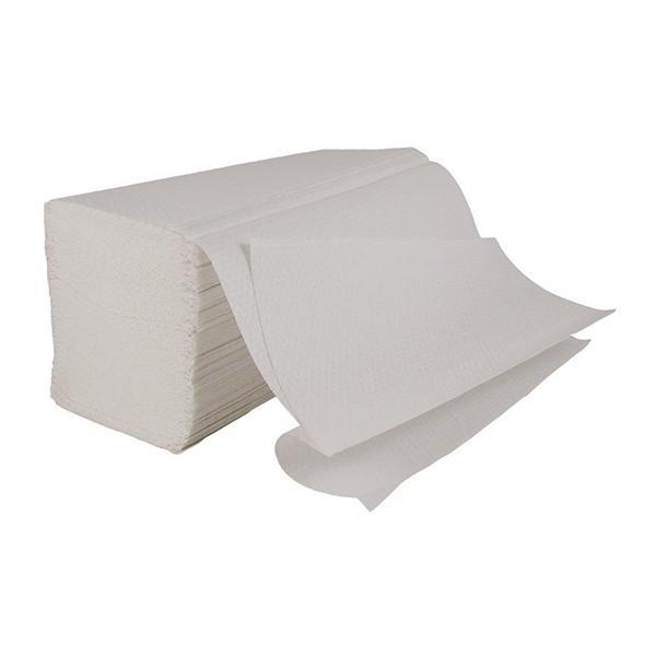 White Interfold 2ply Hand Towels 24 x 21cm