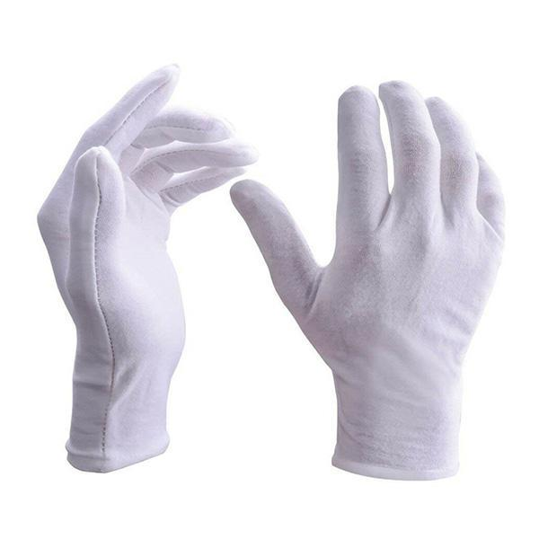 White Cotton Low Lint Gloves (thin)
