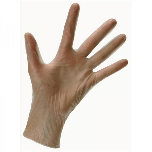 Large CLEAR Vinyl Non Powder Gloves