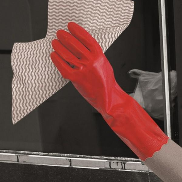 Medium-8-Red-Pura-Hypo-Allergenic-PVC-Glove