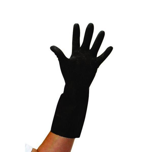 Large Black Thick Rubber Gloves